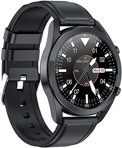 Relojes inteligentes para hombre y mujer, Bluetooth llamada de control de música, con rastreador de sueño IP67 impermeable fitness tracker-negro