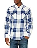 Levi's Barstow Western Standard Camisa, Fryer Blue Print, XL para Hombre