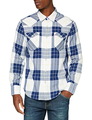 Levi's Herren Barstow Western Standard Shirt, Fritsche Blue Print, Small
