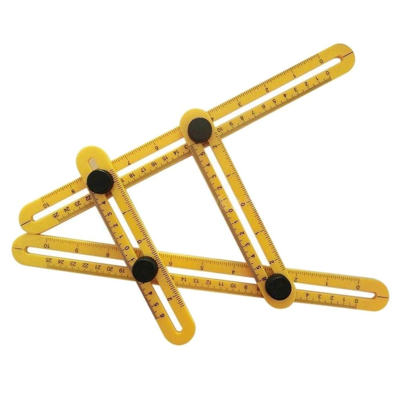 クリアハードイサカUzinby マルチアングル 定規テンプレートツール 便利屋 ビルダー職人 プラスチック製 折り畳み式 定規 測定