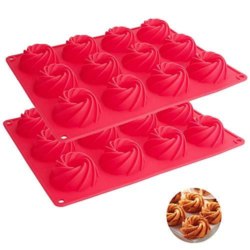 Moldes de silicona para hornear pasteles de silicona, 12 cavidades, molde de silicona antiadherente, molde para tartas, molde para jabón, bandeja para jabón hecha a mano