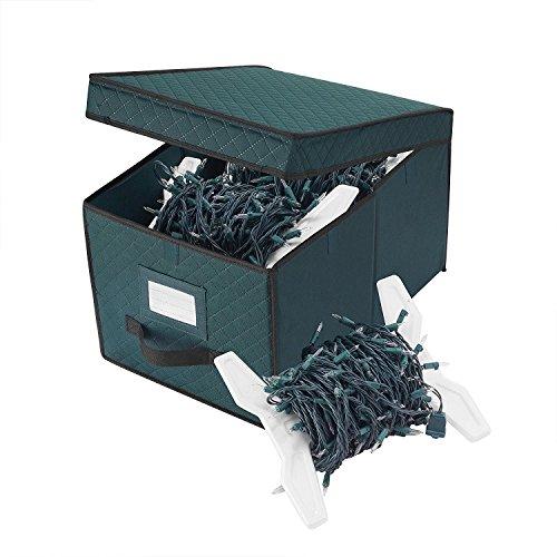 Elf Stor 83-DT5514 5067 Green Christmas Strand Storage Box Organize Over 400 Ft of Lights, Reel