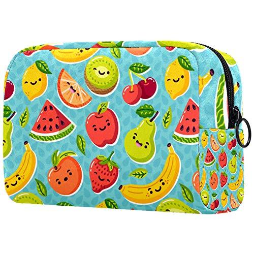KAMEARI Bolsa de cosméticos colorida fruta grande bolsa de cosméticos organizador multifuncional bolsas de viaje