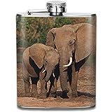 Biberon per bebè in acciaio inossidabile portatile per elefante e mamma...