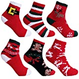 L&K Calcetines de navidad para mujer calcetines gruesos y cálidos de invierno 6 Pares calcetines de felpa calcetines caseros térmicos 2025 2026 35-38