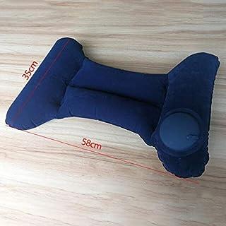 Camping Mat - 1 Pcs H-shaped Portable Camping Pillow Lumbar Pillow Inflatable Foldable Air Neck Self Pump Up Relaxing Camp...