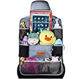 SURDOCA Car Seat Organiser for Kids 4th Generation Enhanced Car Organiser Back Seat for 9.7iPad, 9 Pockets include 2 Thermal Insulation Pockets, Kids Toy Storage,Water Proof Back Seat Protector,1pc