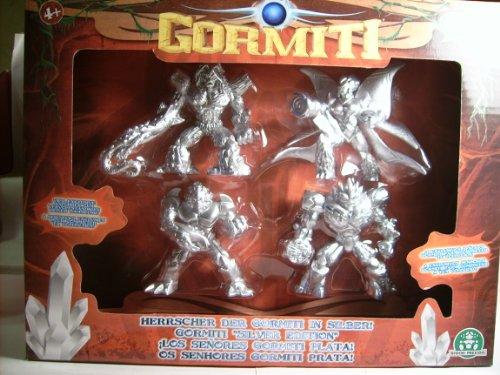 Gormiti -Coffret 4 figurines Seigneurs Exclusives en Version Argent