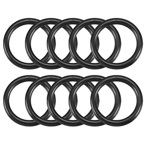2,5x 19mm schwarz Nitrilkautschuk Sealing O Ring Seal Tüllen 10PCS de