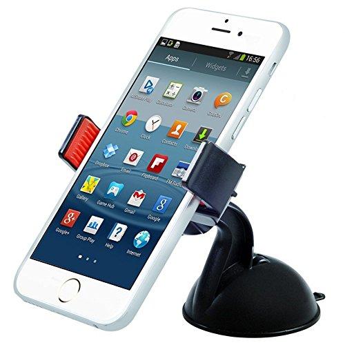 Maclean MC-658 - Soporte de coche para móvil, smaprtphone o navegador Montaje con ventosa