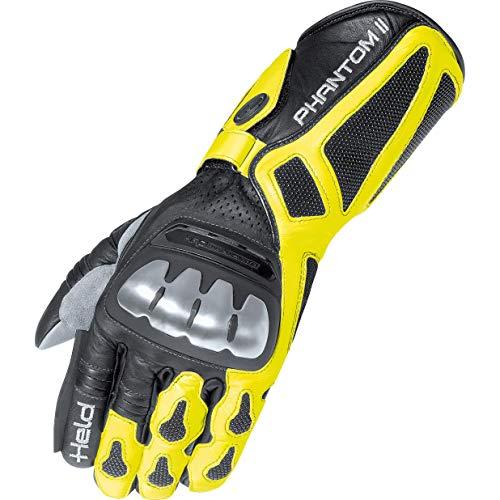 Motorcycle Held Gloves Phantom II White Yellow Grey 09