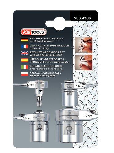 KS Tools 503.4286 GEARplus Stecknuss-Adapter-Satz, metrisch, 4-tlg.