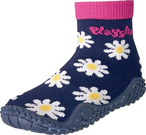 Playshoes Chaussettes Aquatiques avec Protection UV Magerite, Chaussures de Plage et Piscine Garçon Unisex Kinder, Bleu (Marine 11), 26/27 EU