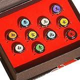 Juego de 10 anillos de Naruto, anillos de Akatsuki en caja de Itachi Sharingan para los fans de los disfraces de ninja
