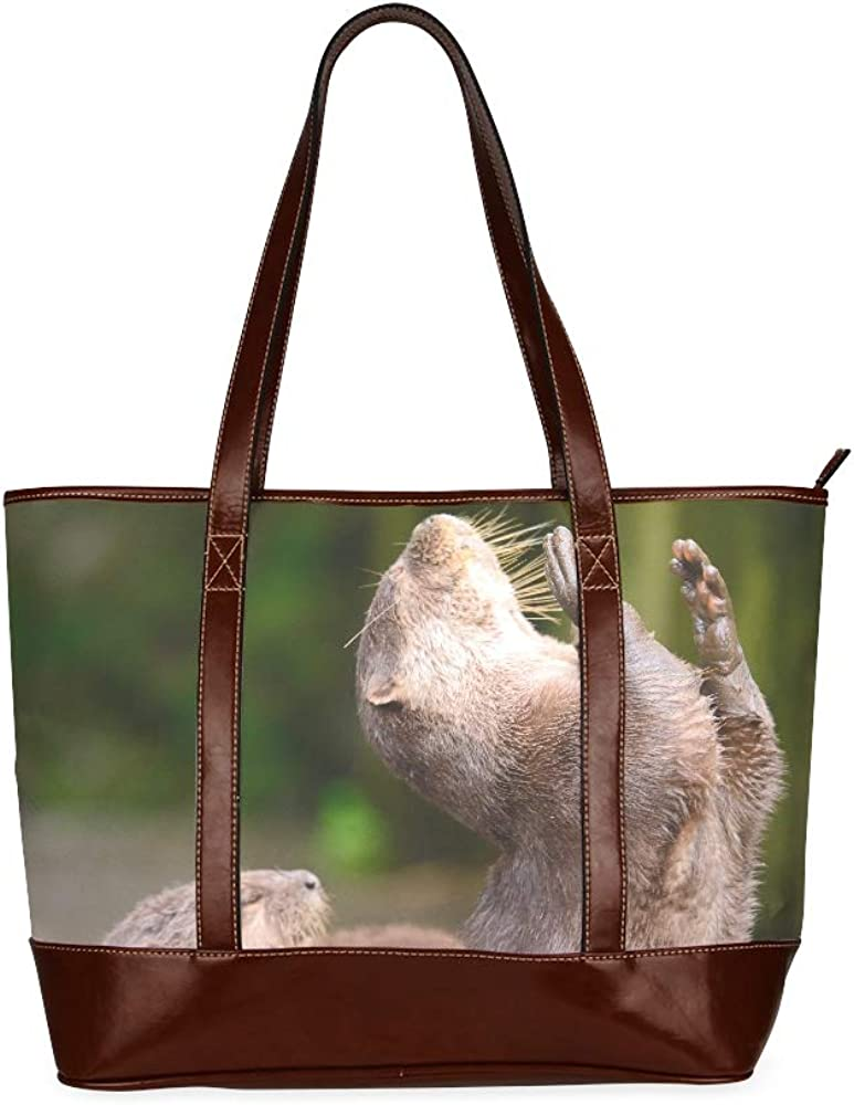 Portrait Of Long-awaited A Young Otter Sacramento Mall With Shoulder Bag Fashion Gi Arms Open