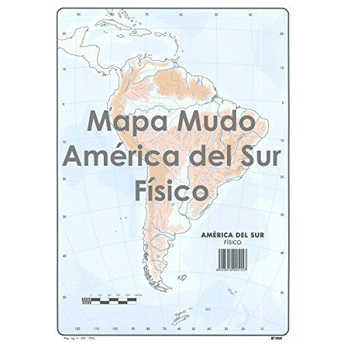 Mapa Mudo SELVI Color Din-A4 América Del Sur Físico, Caja x50