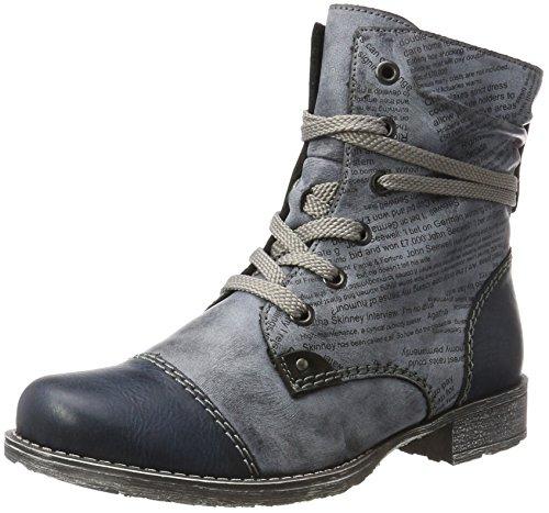 Rieker Damen 70822 Kurzschaft Stiefel, Blau (Navy/Ozean/Schwarz), 38 EU