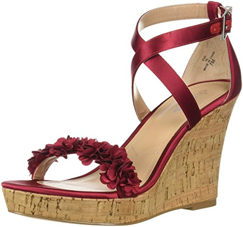 Charles by Charles David Women's Lauryn Wedge Sandal, Scarlet, 7.5 M US