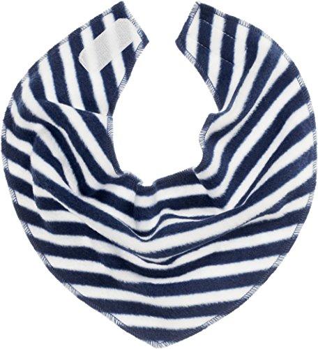 Playshoes Baby-Unisex Fleece-Dreieckstuch maritim legeres Hals-Tuch, Marine/weiß, one size