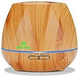 Miserwe 550ML Aromatherapy Essential Oil Diffuser Ultrasonic Aroma Humidifier - Adjustable Mist