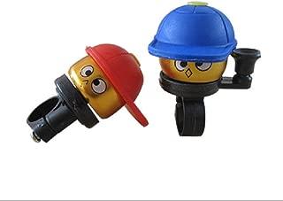 Nihlsen Kids Bike Bell Cartoon Kid Baseball Hat Bike Bell Red Blue Or Light Blue