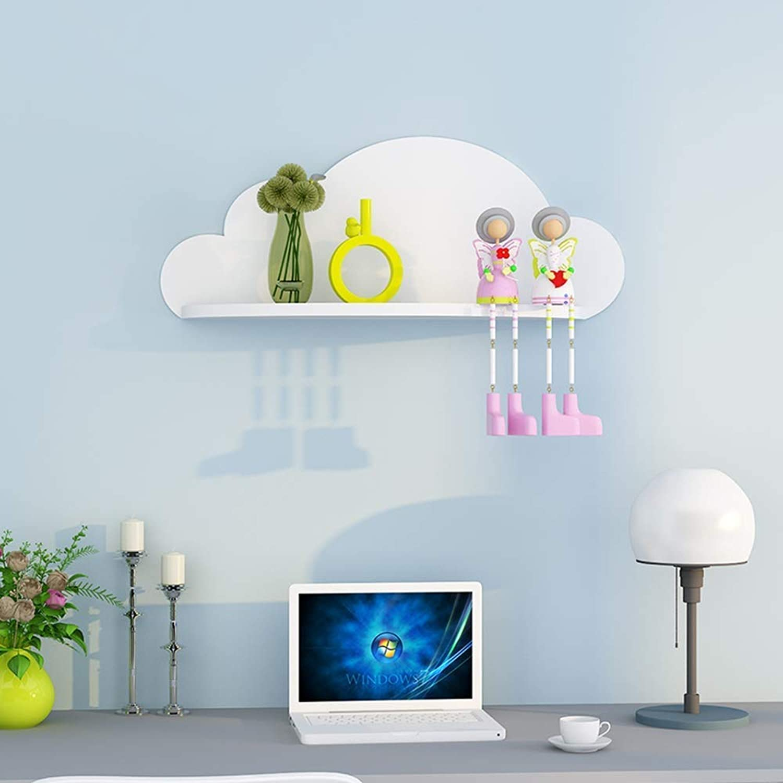 Shelf Modern Minimalist Cloud Wall Shelf Wall Shelf Rack Bedroom Storage Shelf-60  25.6  16Cm Creative Wall Shelf,K