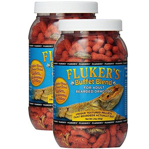 Fluker's Buffet Blend Adult Bearded Dragon Formula, 2.9 Ounce (Pack of 2 - 5.8oz Total)