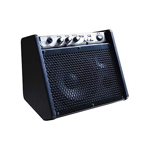 Coolmusic DM20 Bluetooth Amplificador de Monitor Personal Amplificador de Tambor eléctrico Altavoz, Teclado y Altavoz de Guitarra acústica (20W)