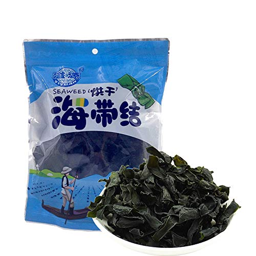 Yiyuan,Without Sand, No Desalination, Drying, Xiapu Kelp, Dry Goods, Buckle, Thickness, 100g, Suitable for Spicy Hot Pot溢源 无沙无需脱盐烘干海带结干货扣节厚100g霞浦适用于麻辣烫火锅