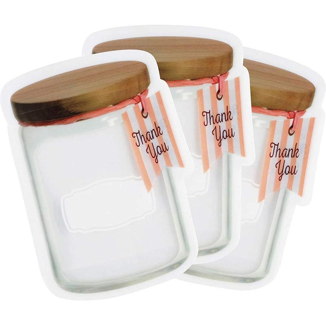ブランチ無視する満足させるキッチン雑貨 キャニスタージッパーバッグ(S3枚セット)
