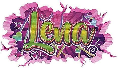 3d Wandtattoo Graffiti Lena Madchen Name Wand Aufkleber Wanddurchbruch Girl Sticker Wandbild Kinderzimmer 11u130 Wandbild Grosse F Ca 140cmx82cm Amazon De Kuche Haushalt