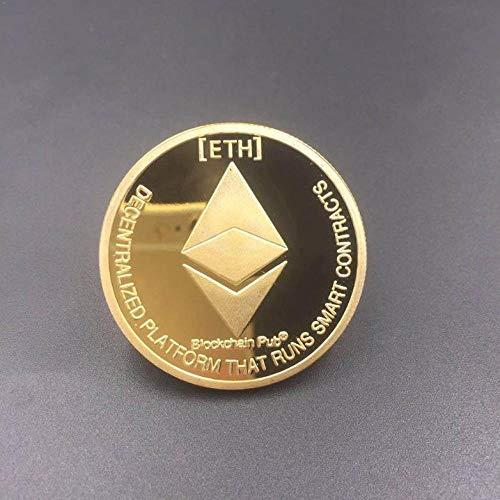 laoniu Moneda de Ethereum chapada en Oro Moneda Conmemorativa Colección de Arte de Litecoin Regalo Imitación física Antigua Decoración del hogar