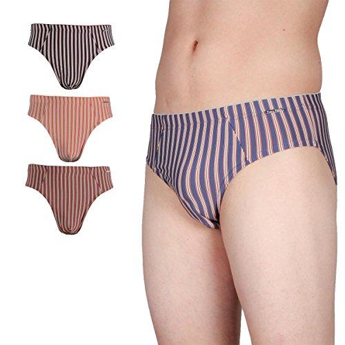 Frank Fields 4er-Pack Slips Herrenslip Microfaser Unterhose Unterwäsche in 4 Farben 5 (M)