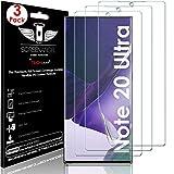 TECHGEAR [3 Pezzi] Pellicola Protettiva per Samsung Galaxy Note 20 Ultra [Screen Angel] Alta Definizione Pellicola [Senza Bolle] Trasparente TPU Silicone Pellicola Copre Schermo Intero