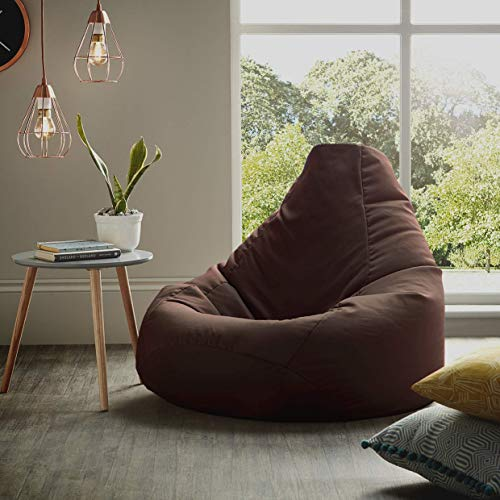 Furniture Land Brown Bean Bag Chair Cover Only - XL