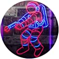 ADVPRO Astronaut Space Rocket Shuttle Kid Room Dual Color LED Neon Sign st6-i3136
