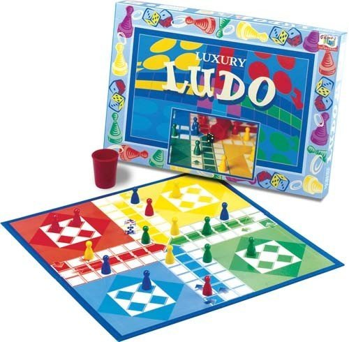 Family Indoor/Outdoor Leisure Fun Activity Traditional Luxury Ludo Board Game