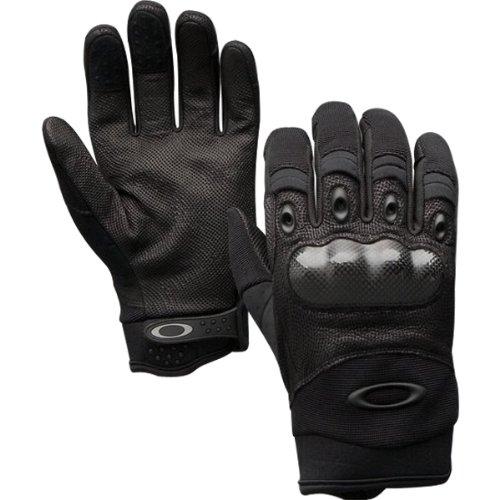 Oakley Factory Pilot w/ Leather Palm Adult Motorcycle, Mountain Bike & BMX Gloves - Black / X-Large