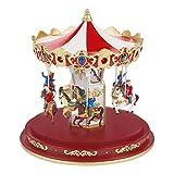 The Christmas Workshop Animated Carousel Ornament, Various, 24.5cm High x 23.5cm Diameter