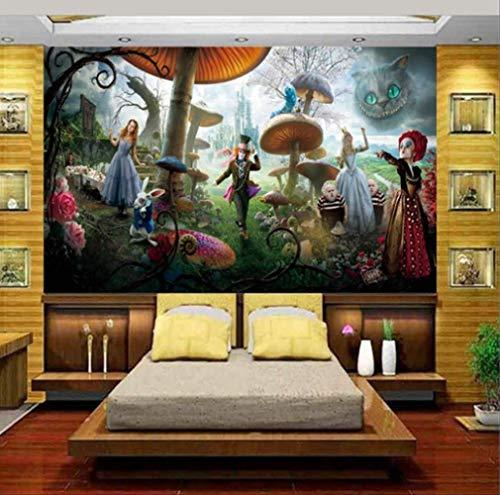 Benutzerdefinierte Größe 3d Foto Tapete Wohnzimmer Kinder Wandbild Alice Im Wunderland 3d Malerei Hintergrundbild Für Wand 3d Breite 200cm * Höhe140cm pro