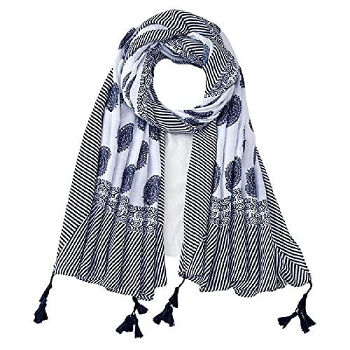 Cuatro estaciones decoración sección delgada suave gran chal Simple anacardo impresión seda bufanda protector solar toalla de playa. gris
