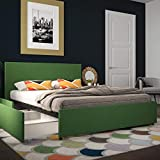 Novogratz Kelly Bed with Storage, Green, Full