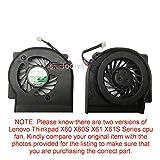 x61 fan - Todiys CPU Cooling Fan for Lenovo Thinkpad X60 X60S X61 X61S Series X60 1702 1703 1704 1705 2510 X60S 2507 2508 2522 X61 7673-74U 7675-4KU X61S 7666-48U 7669-7DU 7669-88U 42X3805 MCF-W03PAM05