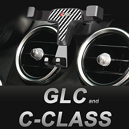 AYADA Handyhalterung für Mercedes GLC und C Klasse, GLC Handyhalter C Klasse Smartphone Halter Gravity Sperre Hände Frei X253 GLC Zubehör W205 C Klasse Zubehör SUV Coupe Accessories
