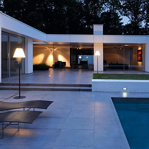 SLV LED Outdoor-Standleuchte ADEGAN/Stehlampe Außen-Beleuchtung Balkon/LED Stehleuchte, Wege-Leuchte, Kandelaber, Sockellampe, Garten-Beleuchtung, Gartenleuchte/E27, schwarz, max. 24W, EEK A-A++