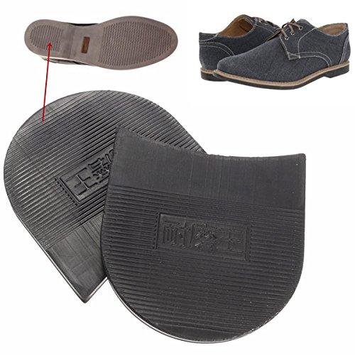 Bluelover 1 Par De Hombres Soltrack DIY Stick En Tacones De Reparación De Zapatos De Goma Antideslizante Grip Negro