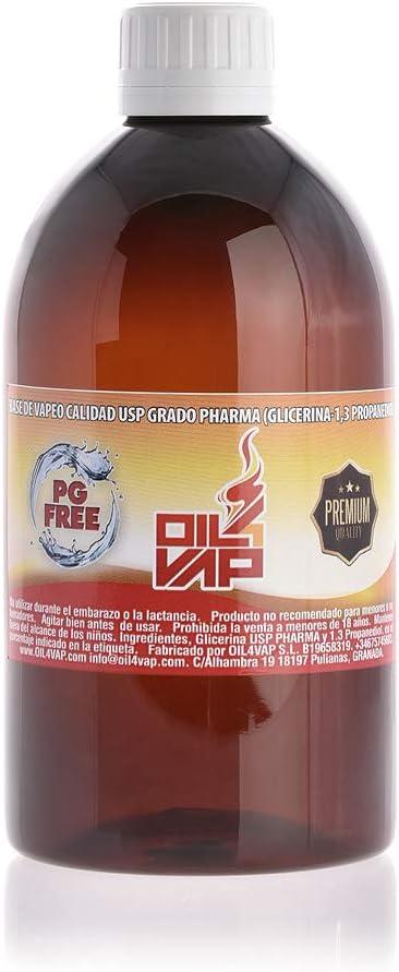 PROPANEDIOL OIL4VAP 500ML 100% VEGETAL (PDO) - SIN NICOTINA