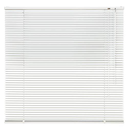 Aluminium Jalousie Alu Jalousette Klemmfix Fenster Tür Rollo ohne Bohren Lamellen Vorhang Weiß Silber Breite 40 bis 240 cm Länge 130 cm 160 cm 220 cm Metall Klemmhalter Sonnenschutz (130 x 160 cm)