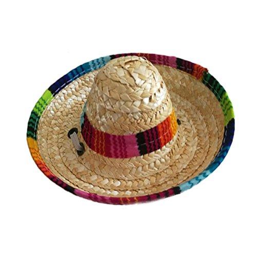 UEETEK Sombrero de Sombrero de Perro Disfraz de Perro Divertido Ropa de Chihuahua Decoraciones de Fiestas Mexicanas