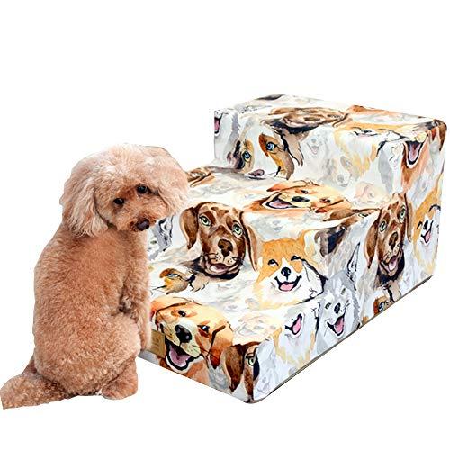 Pet Steps Stairs - Afneembare wasbare tapijthondenladders, Easy Climb Lightweight Pet Ramp voor kleine honden en katten